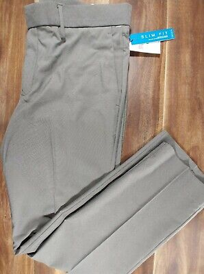Perry Ellis Portfolio Travel Luxe Pants 34 x 32 Gary Slim FIt Easy Care Stretch