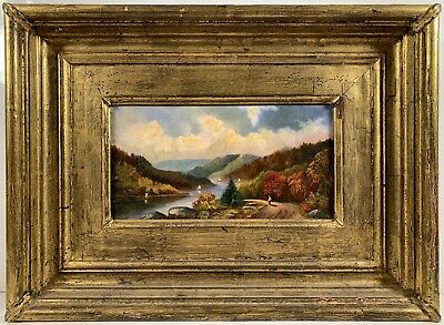 Listed Artist Isaac Whitehead (1819-1883) Signed Oil Painting On Canvas c. 1869