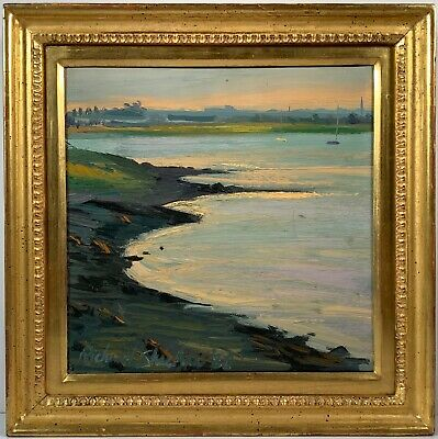 Listed Artist Richard Sheehan (1953-2006) Signed Oil Painting On Canvas Squantum