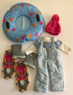 Retired American Girl Doll Chrissa's Snow Outfit & Snow Gear Retired 2009 GOTY