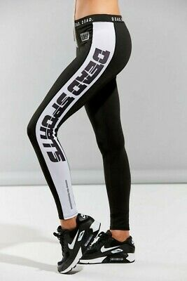 Dead Studio Activewear Leggings in Black with elastic waist band