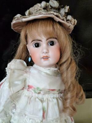 """23"""" Antique French Jumeau Bebe Doll 8 Mark Open Mouth Pull String Voice Talk Box"""