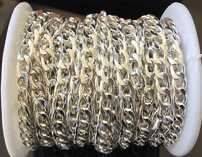 3Feet Silver Plated Cable unSoldered Chain links- Beading Supplies