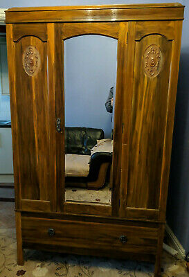 CWS Cabinet Works Large Art Deco Wardrobe