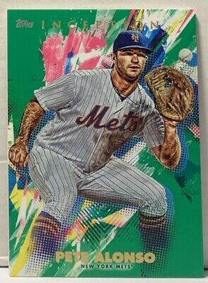 Pete Alonso 2020 Topps Inception GREEN INSERT Mets