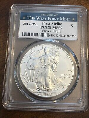 2017-(W) American Silver Eagle First Strike PCGS MS69 West Point Mint Label