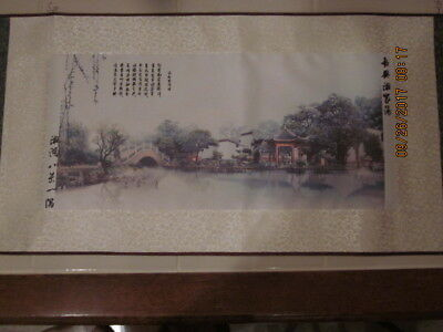 Chinese Scroll Of A Anicent Province In China in Orig Box