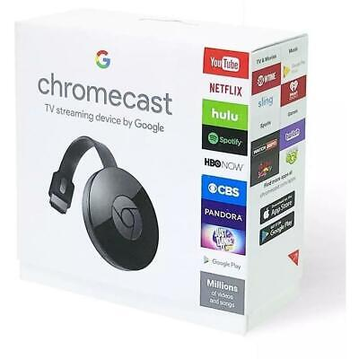 Google Chromecast 2nd Generation Media Internet Streamer - Black