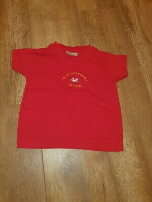 "Baby Unisex Red "" Im not only perfect im welsh"" t-shirt/top.....6-12 months"