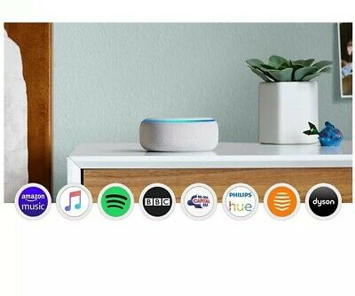 Amazon Echo Dot Smart Speaker With Alexa Sandstone Fabric
