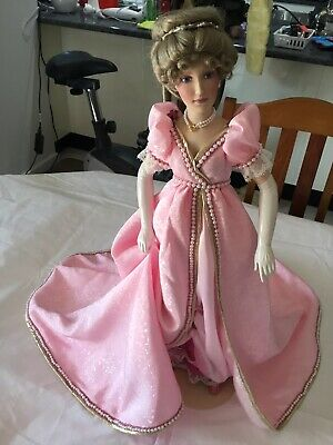 Franklin Heirloom Doll Lady In Pink
