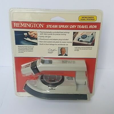 Vintage Remington Steam Spray Dry Travel Iron 1989 80s Suits New