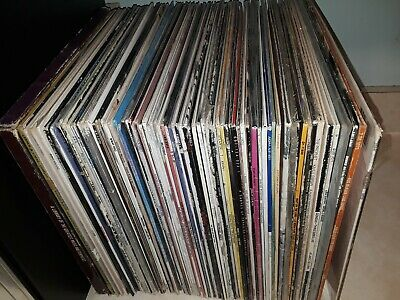 80+ Vinyl Record Lot Various Genres Rock R&B some still Sealed Unique Collection