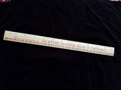 State Savings Bank Of Victoria Wooden Ruler
