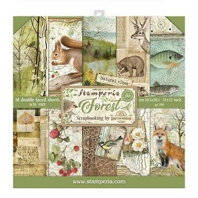 Stamperia Forest 12 x 12 Collection Paper Set