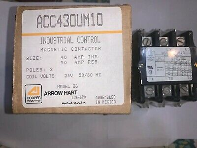ARROW  HART MAGNETIC CONTACTOR ACC430UM10 Brand  New