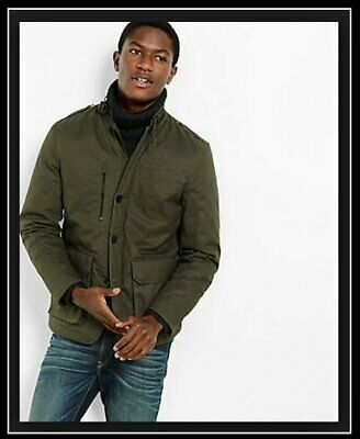 New Express Mens Cotton Military Jacket Coat Size Small S
