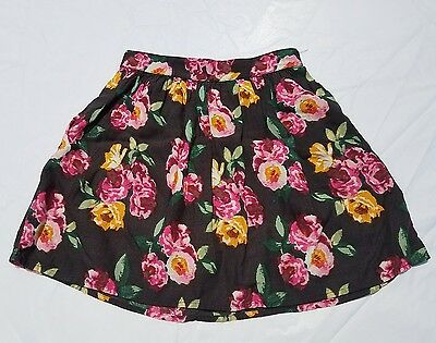 Girls Abercrombie Kids Floral Skirt Size Small Fall Pink  Yellow 7 8