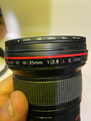 Canon EF 16-35mm f/2.8  USM lens With CPL