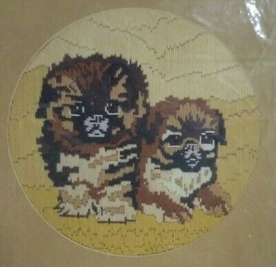 CRAFT MORODEX LONG STITCH KIT PENSIVE PUPPIES No. 101 Cute Little Dogs