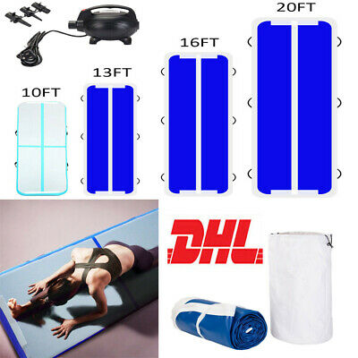 3/4/5/6m Inflatable Air Track Tumbling Gymnastics Tumbling Mat with Pump Home NY