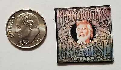 """Dollhouse Miniature Record Album 1"""" 1/12 Kenny Rogers Greatest Hits Music"""