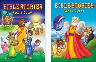 Bible Stories Coloring Books for Kids (2-pack)