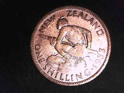 New Zealand  1933 Silver Shilling