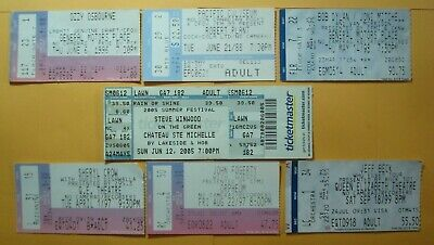 Lot *Used ROCK CONCERT TICKETS**PLANT OZZY Dylan/MITCHELL/Van MORRISON FOGERTY