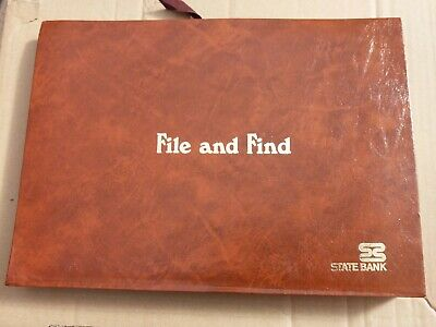 Vintage State Bank FILE AND FIND Expanding Folio Folder