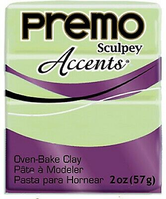 Sculpey PREMO ACCENTS - Polymer Clay - 57g - GLOW IN THE DARK - NEW COLOUR!