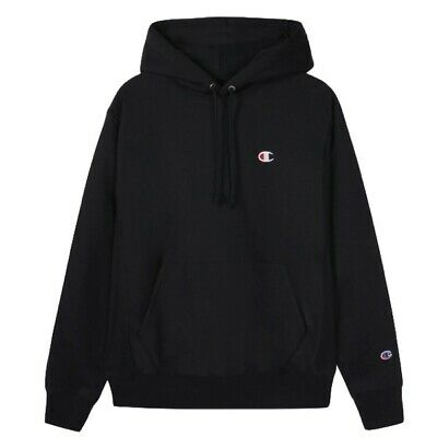 Champion Reverse Weave Hoodie Black Size Small