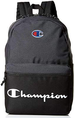 NWT Champion Spellout Manuscript Backpack Black Gray