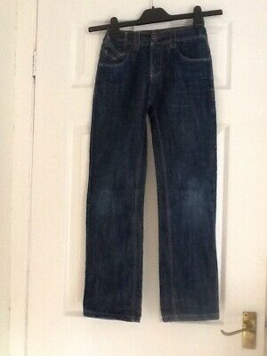 Boy's Jeans Aged 9 Years By Cars Blue Adjustable Waist