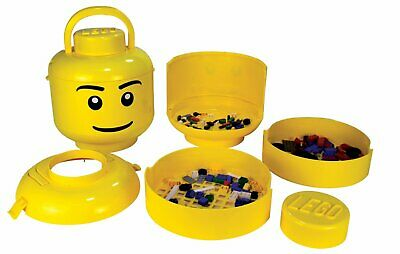RETIRED Lego Sort & Store ~ LARGE Minifigure Head w/Classic Face - Brick Sorter