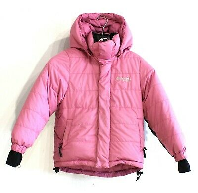 BERGANS OF NORWAY Girls Down Fill 550 Jacket Size 6 Years Hooded Pink s2301