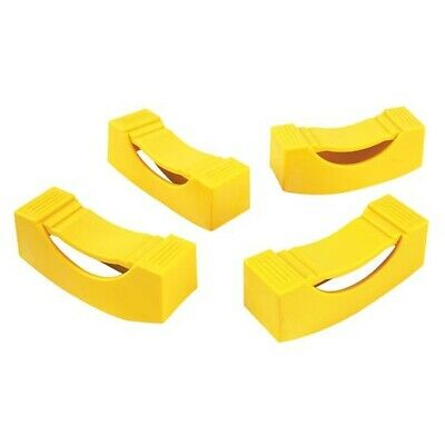 Ernst Manufacturing Jack Stand Covers Yellow 965-Yellow Set of 2