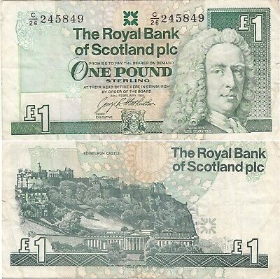 Scotland 1 Pound RARE Banknote (What you see is what you get)