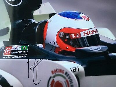 Signed Formula One Photograph Of Rubens Barrichello