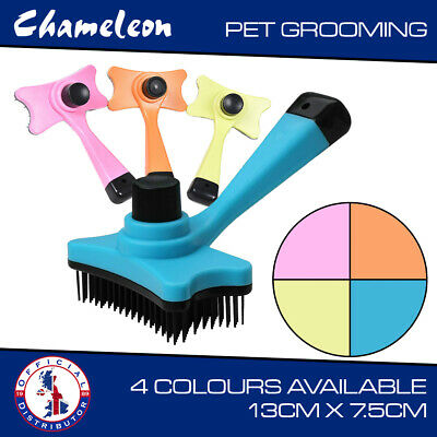 Pet Fur Deshedding Tool Moulting Grooming Brush For Dogs Cats Easy Use