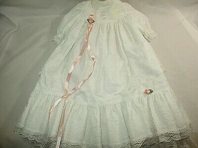 Vtg. Christening Baptism White Lacy Gown Baby/Doll Frankenmuth, Michigan