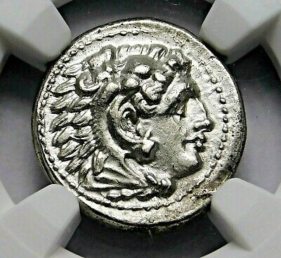 NGC MS 4/5-3/5 Alexander the Great. Stunning Lifetime Drachm. Greek Silver Coin