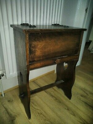 Antique arts and crafts oak Sewing Table Box
