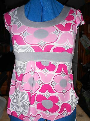 Girls Pink & Grey Top/t.shirt 11-12 years Sophie Good Condition as hardly worn.