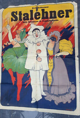 Originalplakat GRAND ETABLISSEMENT STALEHNER, XVII Wien 1900