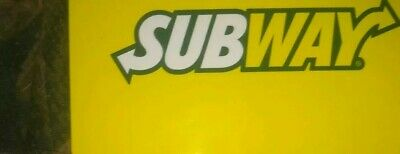 Subway * Used Collectible Logo w/Yellow Background Gift Card NO VALUE * 1215