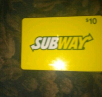 Subway * Used Collectible Logo w/Yellow Background Gift Card NO VALUE * 0115