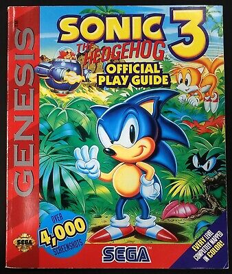 1994 Sonic the Hedgehog 3 Official Play Guide! 96 pages! Good condition!