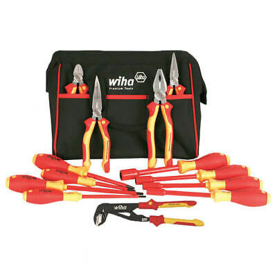 Wiha 32894 Insulated Pliers, Cutters, Driver, Nut Driver Tool Set (13-Piece)