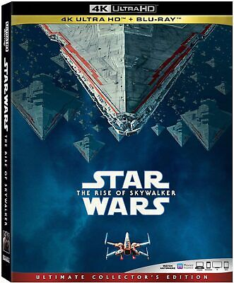 Star Wars The Rise of Skywalker (4K + Blu Ray) NEW! (No Digital) *FAST FREE SHIP